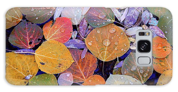 Collage Of Aspen Leaves At Mcgee Creek In The Eastern Sierras Galaxy Case