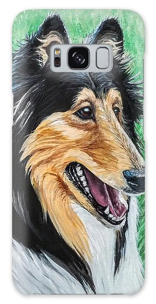 Galaxy Case featuring the painting Collie by Jennifer Hotai