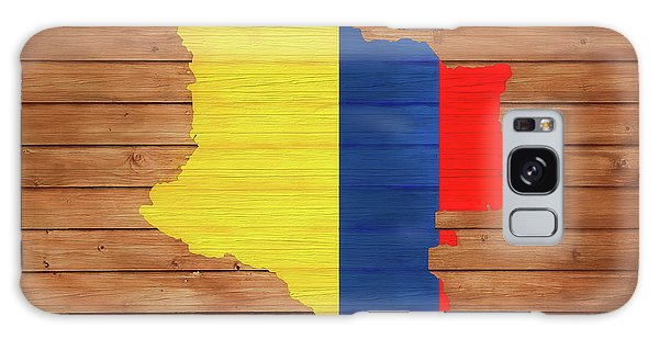 Traveler Galaxy Case - Colombia Rustic Map On Wood by Dan Sproul
