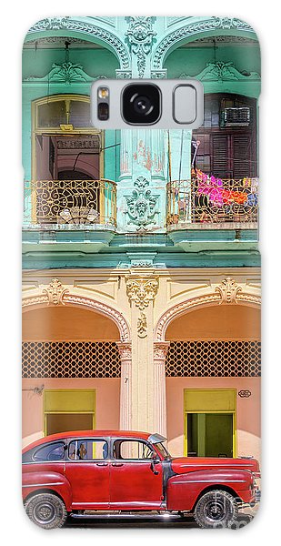 Town Square Galaxy Case - Colonial Architecture by Delphimages Photo Creations