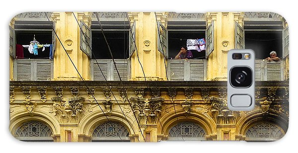 Colonial Facade Bo Soon Pat Street 8th Ward Central Yangon Burma Galaxy Case