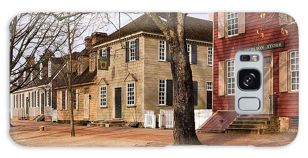 Colonial Street Scene Galaxy Case by Sally Weigand