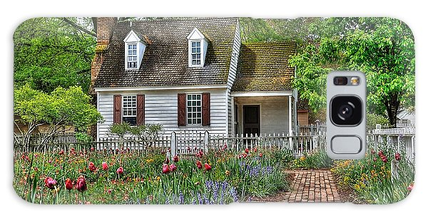 Brick House Galaxy Case - Colonial Williamsburg Flower Garden by Todd Hostetter