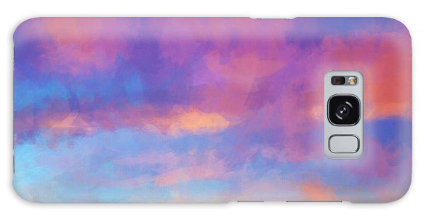 Color Abstraction Xlviii - Sunset Galaxy Case by Dave Gordon