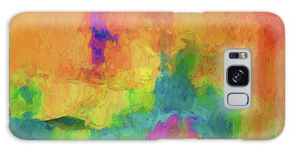 Color Abstraction Xxxiv Galaxy Case