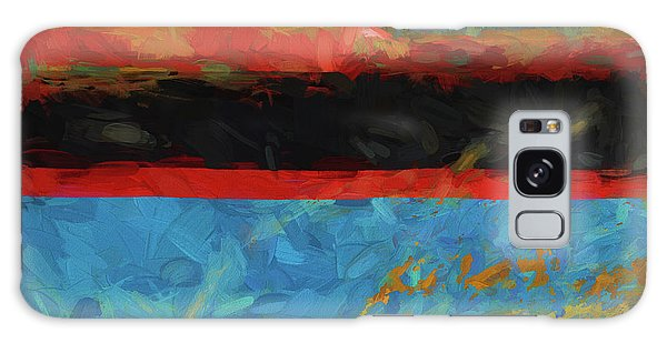 Color Abstraction Xxxix Galaxy Case by David Gordon