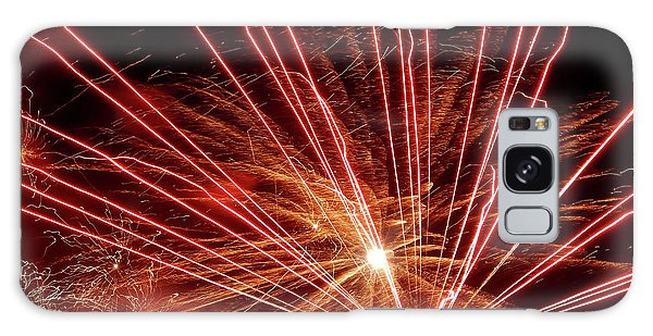 Galaxy Case featuring the photograph Color Blast Fireworks #0731 by Barbara Tristan