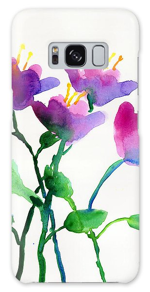 Color Flowers Galaxy Case