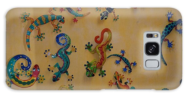 Color Lizards On The Wall Galaxy Case by Rob Hans