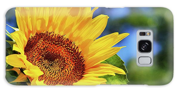 Color Me Happy Sunflower Galaxy Case by Christina Rollo