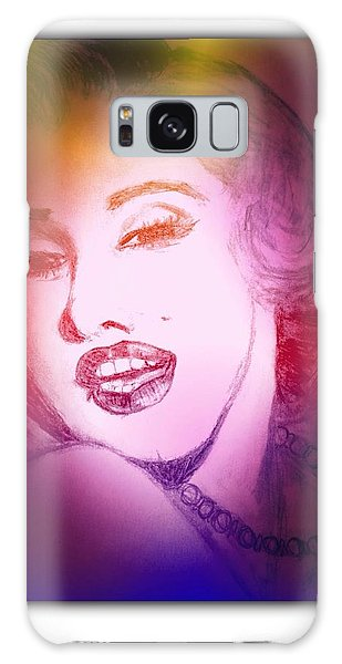 Color Rendition Of Marilyn Monroe #2 Galaxy Case