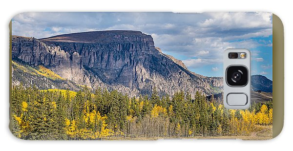 Colorado Fall Landscape With Aspen Trees Between Creede And Lake Galaxy Case
