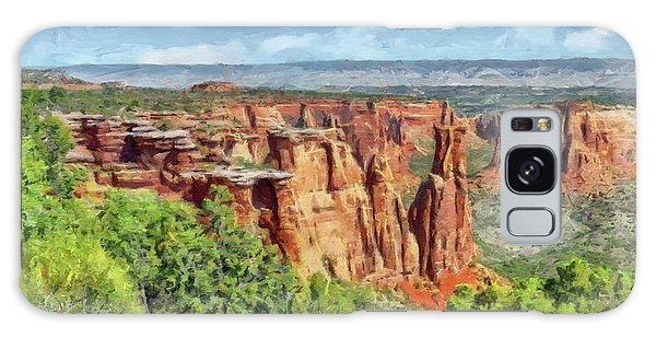 Galaxy Case featuring the digital art Colorado National Monument 1 by Digital Photographic Arts
