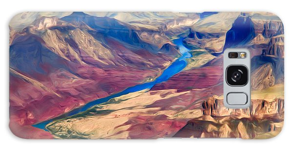 Galaxy Case featuring the photograph Colorado River In Grand Canyon by Lou  Novick