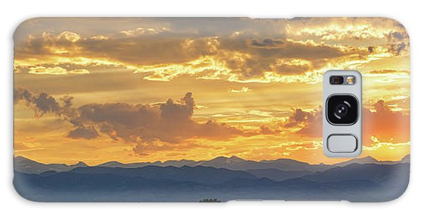 Galaxy Case featuring the photograph Colorado Rocky Mountain Front Range Panorama Sunset by James BO Insogna