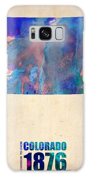 City Map Galaxy Case - Colorado Watercolor Map by Naxart Studio