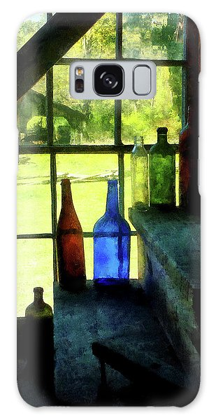 Colored Bottles On Steps Galaxy Case by Susan Savad