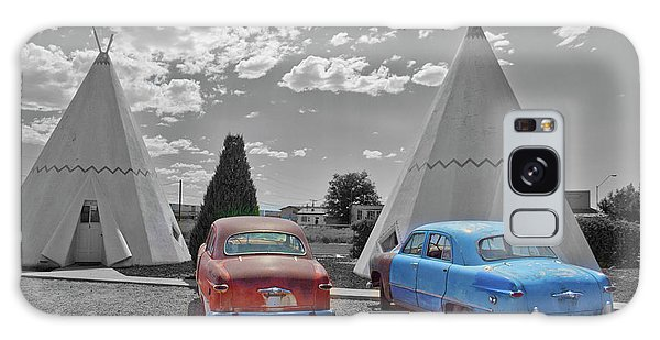 Colored Cars And Tee Pee Motel--holbrook Galaxy Case