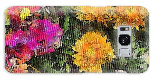 Colored Flowers Galaxy Case