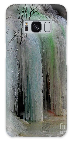 Colored Frozen Waterfalls Alont The Skeena  Galaxy Case