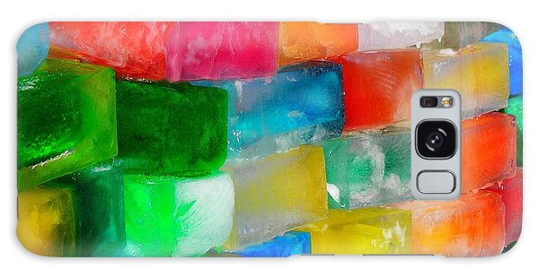 Colored Ice Bricks Galaxy Case by Juergen Weiss