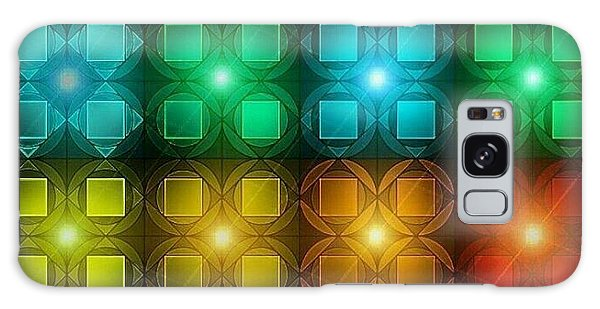 Galaxy Case - Colored Lights by Lisa Marie Towne