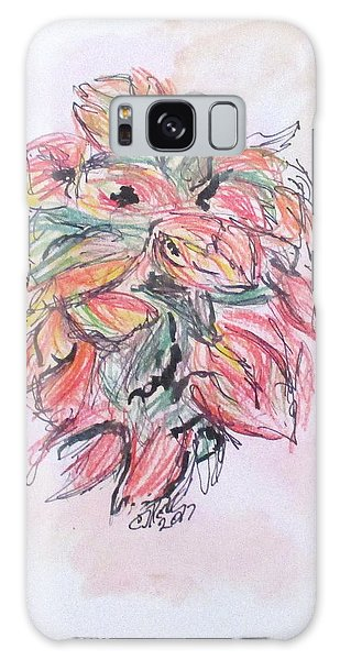Colored Pencil Flowers Galaxy Case by Clyde J Kell