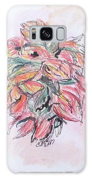 Colored Pencil Flowers Galaxy Case