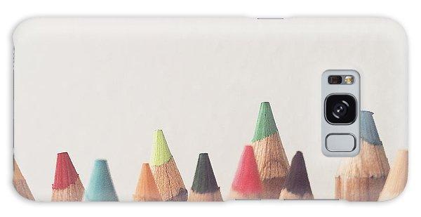 Colored Pencils Galaxy Case