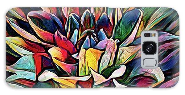 Colorful Abstract Dahlia Galaxy Case
