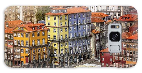 Colorful Architecture Of Ribeira Porto  Galaxy Case