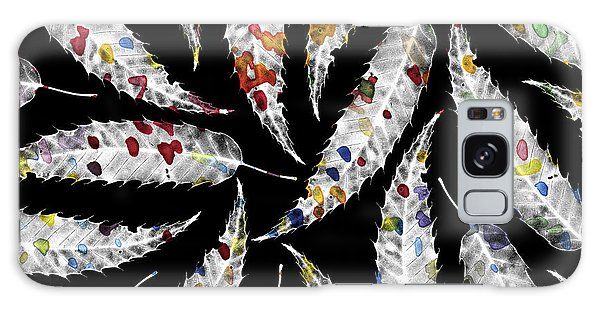 Pattern Galaxy Case - Colorful Black And White Leaves by Susanne Kasielke
