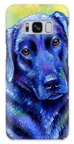 Colorful Black Labrador Retriever Dog Galaxy Case