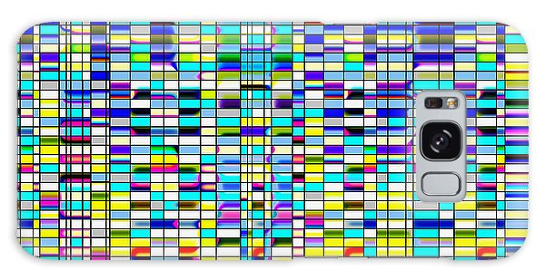 Galaxy Case featuring the digital art Colorful Blinds by Joy McKenzie