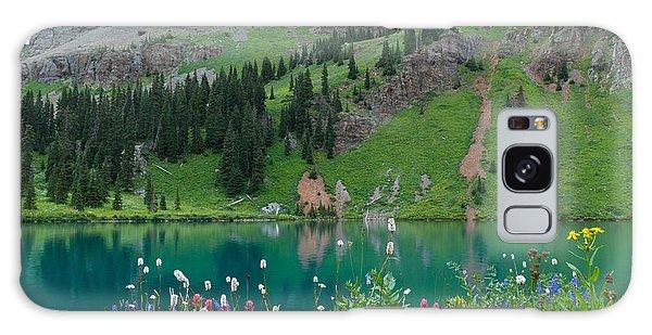 Colorful Blue Lakes Landscape Galaxy Case