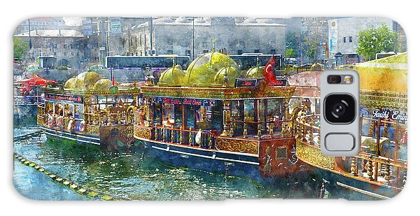 Colorful Boats In Istanbul Turkey Galaxy Case