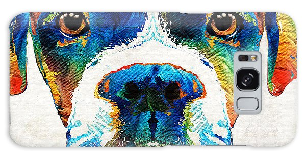 Colorful Boxer Dog Art By Sharon Cummings  Galaxy Case by Sharon Cummings