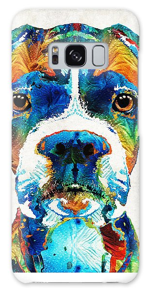 Colorful Boxer Dog Art By Sharon Cummings  Galaxy Case