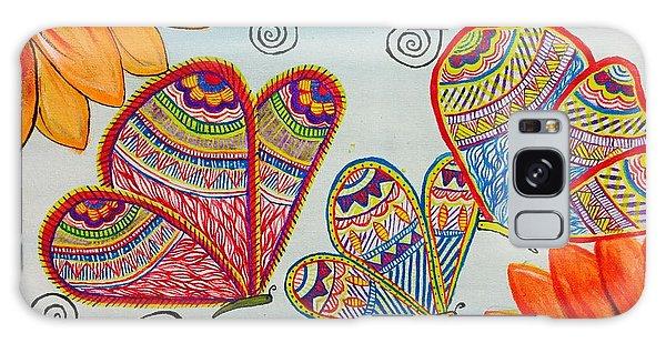 Madhubani Galaxy Case - Colorful Butterfly In Madhubani Art by Anuradha Kumari
