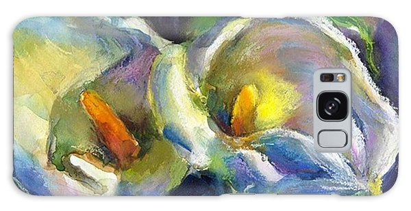Colorful Calla Flowers Painting By Galaxy Case