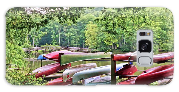 Colorful Canoes At Hungry Mother State Park Galaxy Case