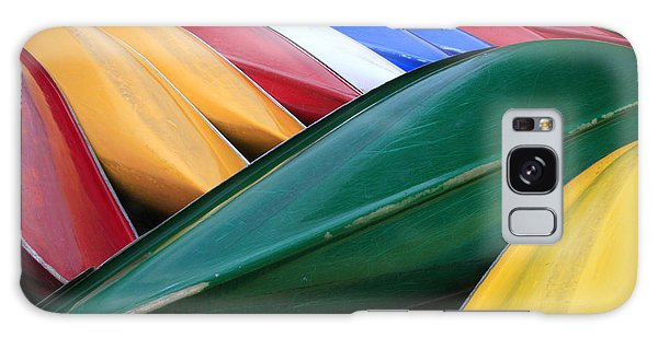 Colorful Canoes Galaxy Case