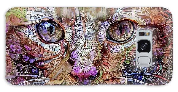 Colorful Cat Art Galaxy Case