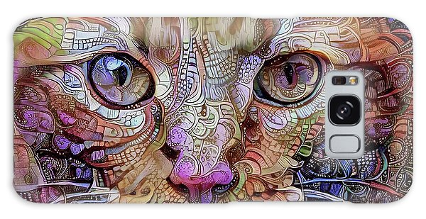 Colorful Cat Art Galaxy Case by Peggy Collins