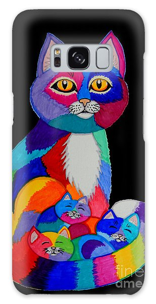 Colorful Cats And Kittens Galaxy Case by Nick Gustafson