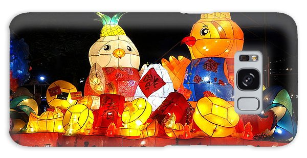 Colorful Chinese Lanterns In The Shape Of Chickens Galaxy Case by Yali Shi
