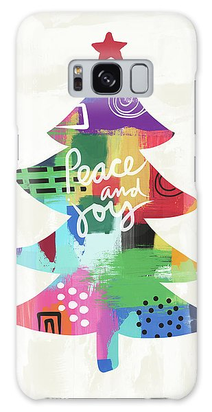 Peace Galaxy Case - Colorful Christmas Tree- Art By Linda Woods by Linda Woods