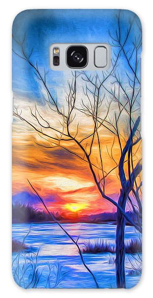 Colorful Cold Sunset Galaxy Case