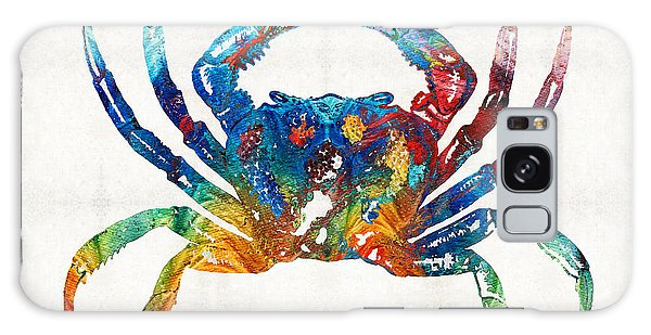 Colorful Crab Art By Sharon Cummings Galaxy Case by Sharon Cummings