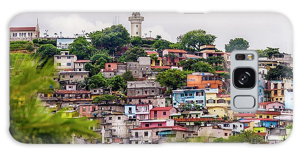 Colorful Houses On The Hill Galaxy Case